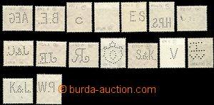 58950 - 1939-45 sestava 16ks různých perfinů na německých znám
