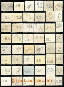 58965 - 1900-30 AUSTRIA  selection of 100 pcs of stamps with perfins