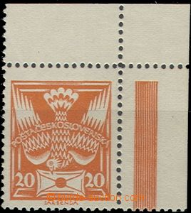 58975 - 1920 Pof.148B T II., upper corner piece, from tête-b&#2