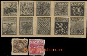 59023 - 1918 comp. 12 pcs of refused designes from one of author on