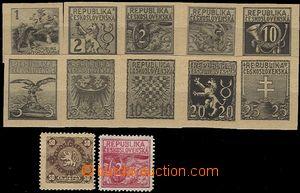 59023 - 1918 sestava 12ks nepřijatých návrhů od jednoho autora n