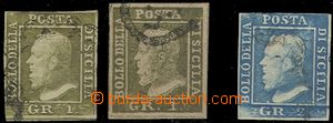 59040 - 1859 Mi.2 + forgery same stamp. + Mi.3, cat. min. 195€