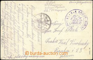59061 - 1915 S.M. Ship GAMMA  double-circle violet postmark on Ppc P