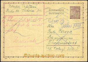 59066 - 1941 C.C. TEREZIN-THERESIENSTADT  p.stat 60h sent from Pragu