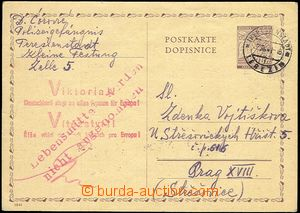 59067 - 1941 C.C. TEREZIN-THERESIENSTADT  p.stat 60h sent from Small