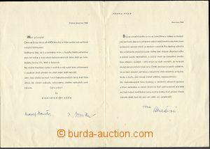 59084 - 1945 BENEŠOVÁ Hana, choť prezidenta republiky, podpis na