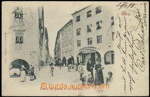 59111 - 1898 Gorizia (Görz) -  záběr do ulice, DA, zasláno do Tu