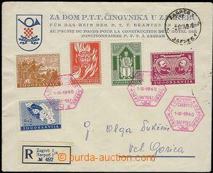 59112 - 1940 FDC s vylepenou sérií zn. Mi.413-417 s PR Za Dom P.T.T.