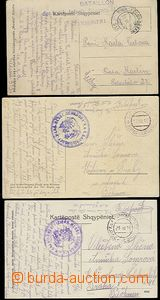 59122 - 1916-17 ALBANIA  3 pcs of Ppc with cancel. Etappenpostamt Sc