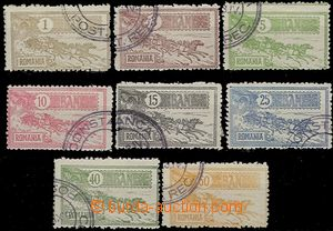 59127 - 1903 FORGERY  forgeries I. type stamp. Mi.146-53, Mail Coach