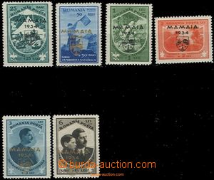 59131 - 1934 Mi.468-73 Scout with overprint Mamaia 1934, variously i