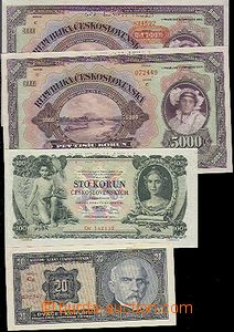 59137 - 1920-34 CZECHOSLOVAKIA 1918-39  comp. 9 pcs of paper money,