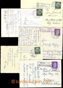 59147 - 1940-44 GERMANY  sestava 5ks pohlednic s razítky poštoven