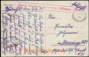 59152 - 1941 pohlednice Dobrušky zaslaný do Rakouska jako FP s ř�