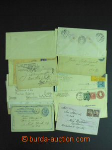 59169 - 1896-1940 USA  selection of 17 pcs of letters, PC and postal