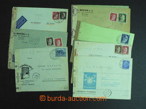 59183 - 1942-43 GERMANY  comp. 9 pcs of air-mail letters to Bulgaria