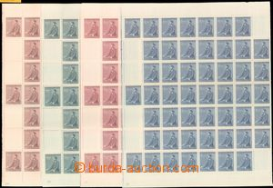 59186 - 1942 Pof.74-77 Birthday of A. Hitler, complete counter sheet