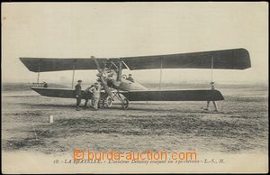 59216 - 1915 French biplane, pilot Debuissy; Un, good condition