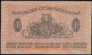 59219 - 1919 CZECHOSLOVAKIA 1918-39  bank-note 1CZK, Ba.7, set 247,