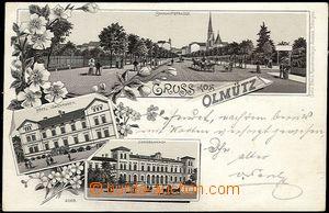 59222 - 1898 Olomouc - litografická koláž, nádraží; DA, prošl