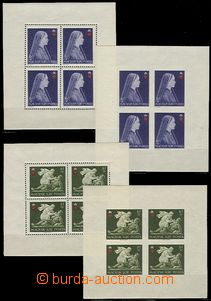 59299 - 1942 Mi.696-98A+B Red Cross, comp. 6 pcs of bloks of four pe