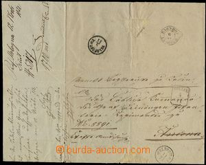 59310 - 1852 folded cover on/for service letter ex officio, intended