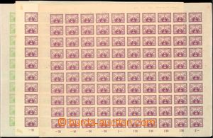 59337 - 1919 Pof.S1-2, express, 3x complete. 100-stamps counter shee