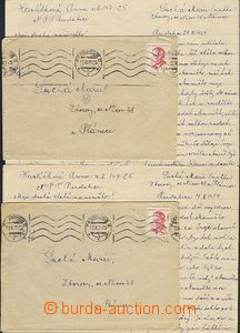 59342 - 1959 PARDUBICE  2 pcs of letters with content from one věze