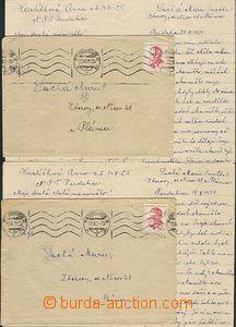 59342 - 1959 PARDUBICE  2ks dopisů s obsahem od jedné vězeňkyně