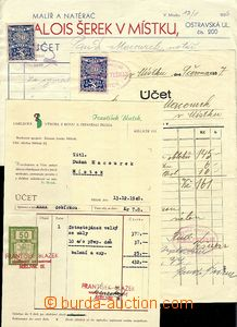 59397 - 1937-53 Czechoslovakia  comp. 8 pcs of various invoices, inv