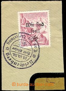 59419 - 1938 Mi.128, Reichenberg - Maffersdorf, overprint on/for Cze