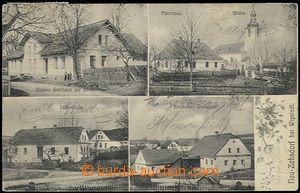 59428 - 1911 NOVÉ TĚCHANOVICE (Neu Zechsdorf) - 4-views pub, vicar