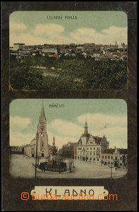 59431 - 1907 Kladno - 2okénková, celkový pohled, náměstí; pro�