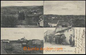 59436 - 1906 Skřípov (Wachtl) - 4-views, people in front of shop w