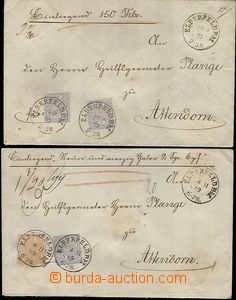 59454 - 1869-70 2 pcs of money letters sent to Netherlands, with Mi.