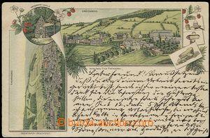 59483 - 1894 Jeseník - lithography, town, bath, Priessnitzův sprin