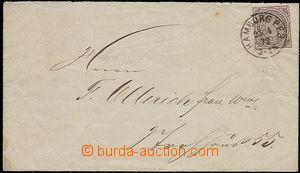 59495 - 1872 dopis vyfr. zn. Mi.24 (vydání pro Hamburg), DR Hambur