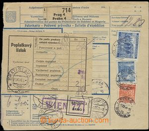 59525 - 1941 larger part international post. dispatch-note sent to B