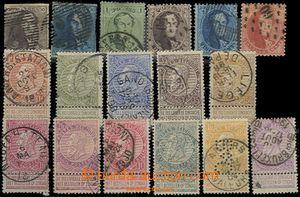 59535 - 1849-84 Mi.1, 2, 10-13, 53-59, 67-70, perfin, catalogue 335�