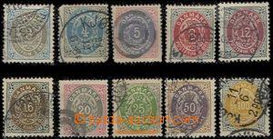 59537 - 1875 Mi.22-31, kat. 150€