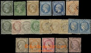 59540 - 1853-71 Mi.10-13, 15 and various stamp. from 33-55, selectio