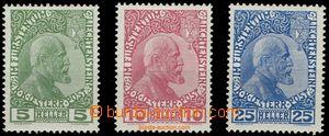 59545 - 1912 Mi.1x-3x, kat. 150€