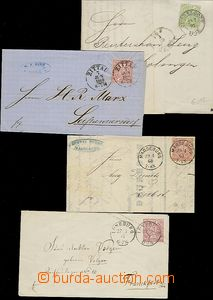 59558 - 1868-71 comp. of 3 letters and one postal stationery covers