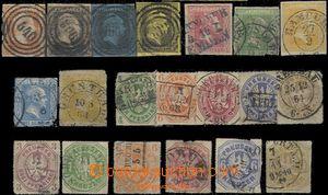 59559 - 1850-67 Mi.1-4, 9-12, 22, 24-26, (various 14-19); c.v.. 555�