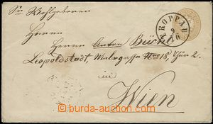 59562 - 1864? postal stationery cover Mi.U30, nice CDS Troppau/ 9/10