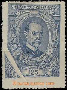 59569 -  Pof.140 125h blue, significant paper crease