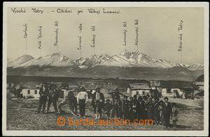 59572 - 1930 cikáni, VELKÁ LOMNICA (Slovensko), v pozadí Tatry; n