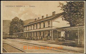 59573 - 1921 Hronská Breznica - railway-station; Us, light bumped c