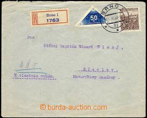 59598 - 1938 R-dopis vyfr. zn. Pof.309, DR1, DR Brno 16.III.38; zvln
