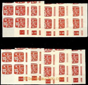 59601 - 1945 Pof.NV24 DZ 3-45, 4-45, 5-45, 6-45, 7-47, 8-47, 9-47, 1